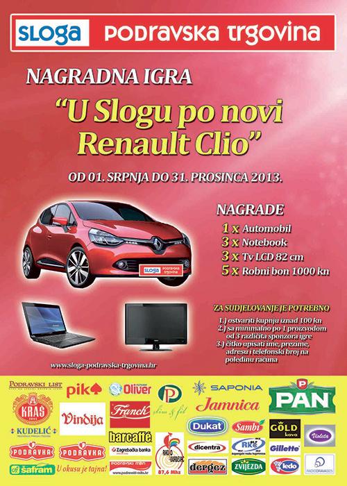 Nagradna igra: U Slogu po novi Renault Clio