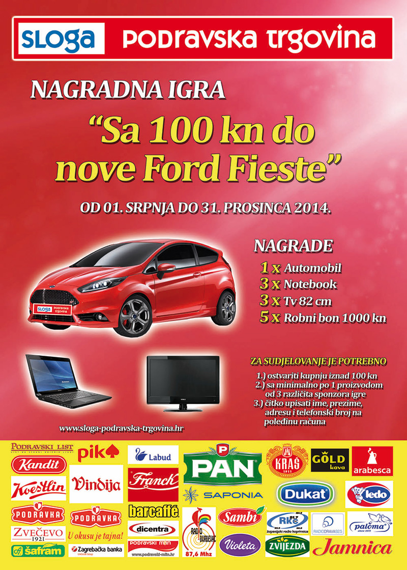 Nagradna igra: Sa 100kn do nove Ford Fieste