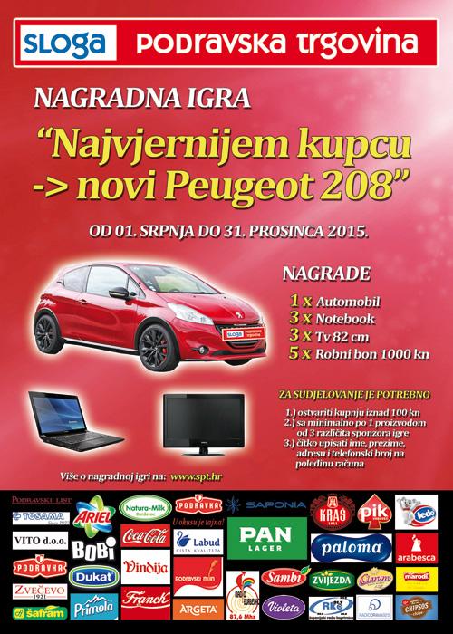 Nagradna igra: Najvjernijem kupcu novi Peugeot 208